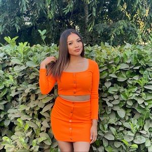 2 piece orange set